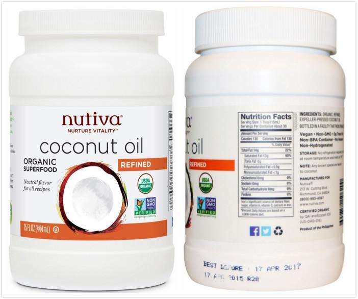 Nutiva, Organic Refined Coconut Oil (444 ml)