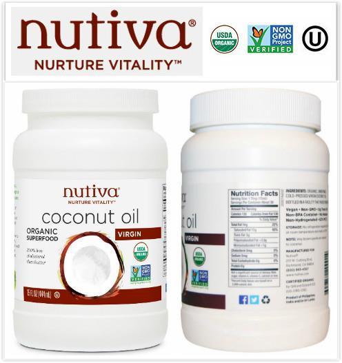 Nutiva, Organic Virgin Coconut Oil (444ml)