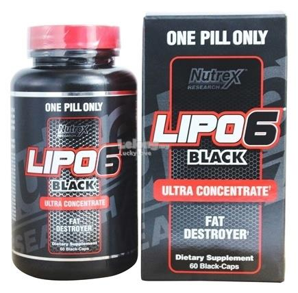 NUTREX LIPO 6 Black Ultra Concentrate FAT BURNER ( MADE IN USA )