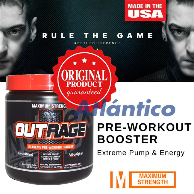 Nutrex, Outrage, Extreme Pre-Workout Igniter, Watermelon 144g