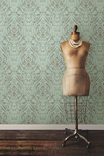 "NuWallpaper NU2079, 10.25 "" Nomad Damask Peel and Stick Wallpaper"