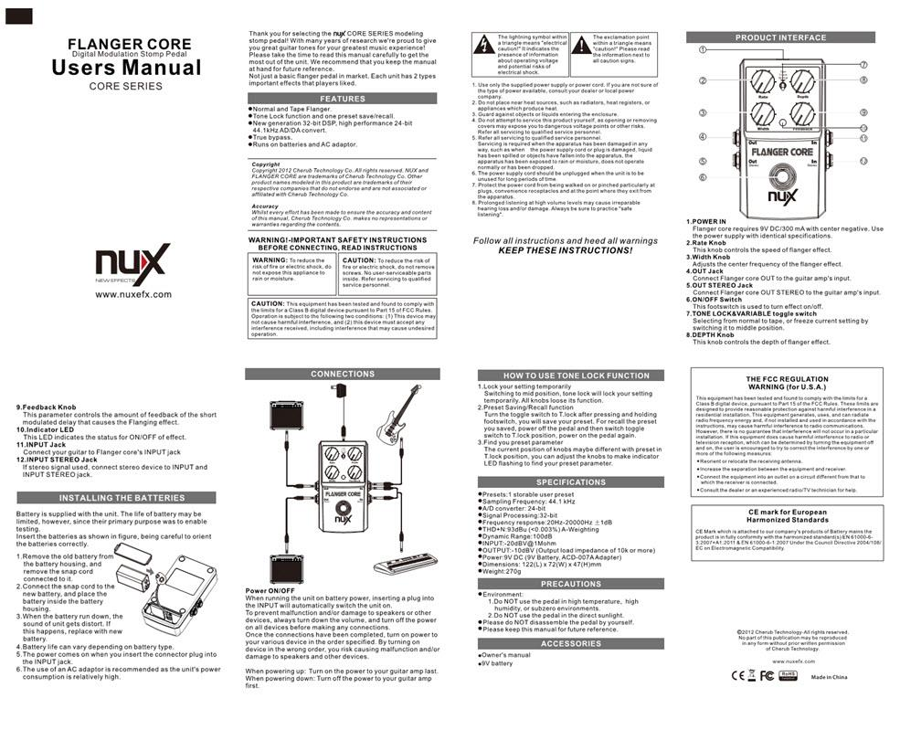 Nux Flanger Core Guitar Effects Pedal End 8 5 2019 415 Pm Stereo Jack Wiring