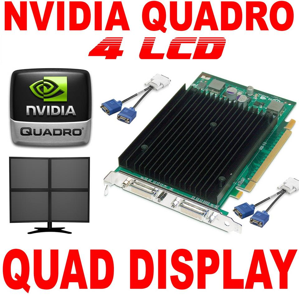 Nvidia quadro 4 display Graphic card ~New ~Support 4  Lcd monitor
