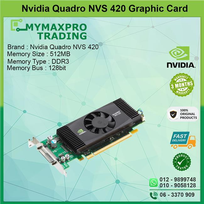 NVIDIA Quadro NVS 420 512MB DDR3 64bit VHDCI Graphic Card H995J