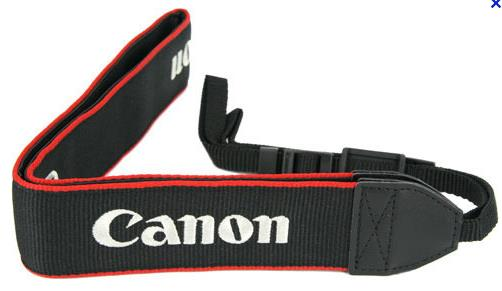 Nylon/Leather Camera Shoulder Neck Straight Strap for Canon DSLR