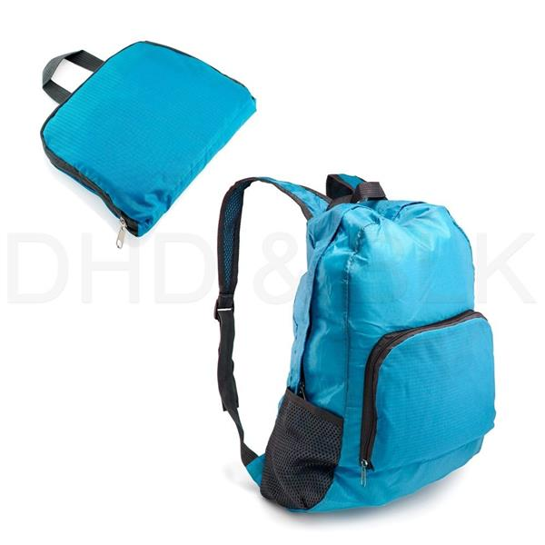 Nylon Portable Bag 2in1 Flexible Foldable Waterproof Outdoor Backpack