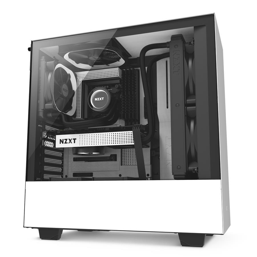 NZXT H SERIES H500 BLACK+WHITE ATX Casing
