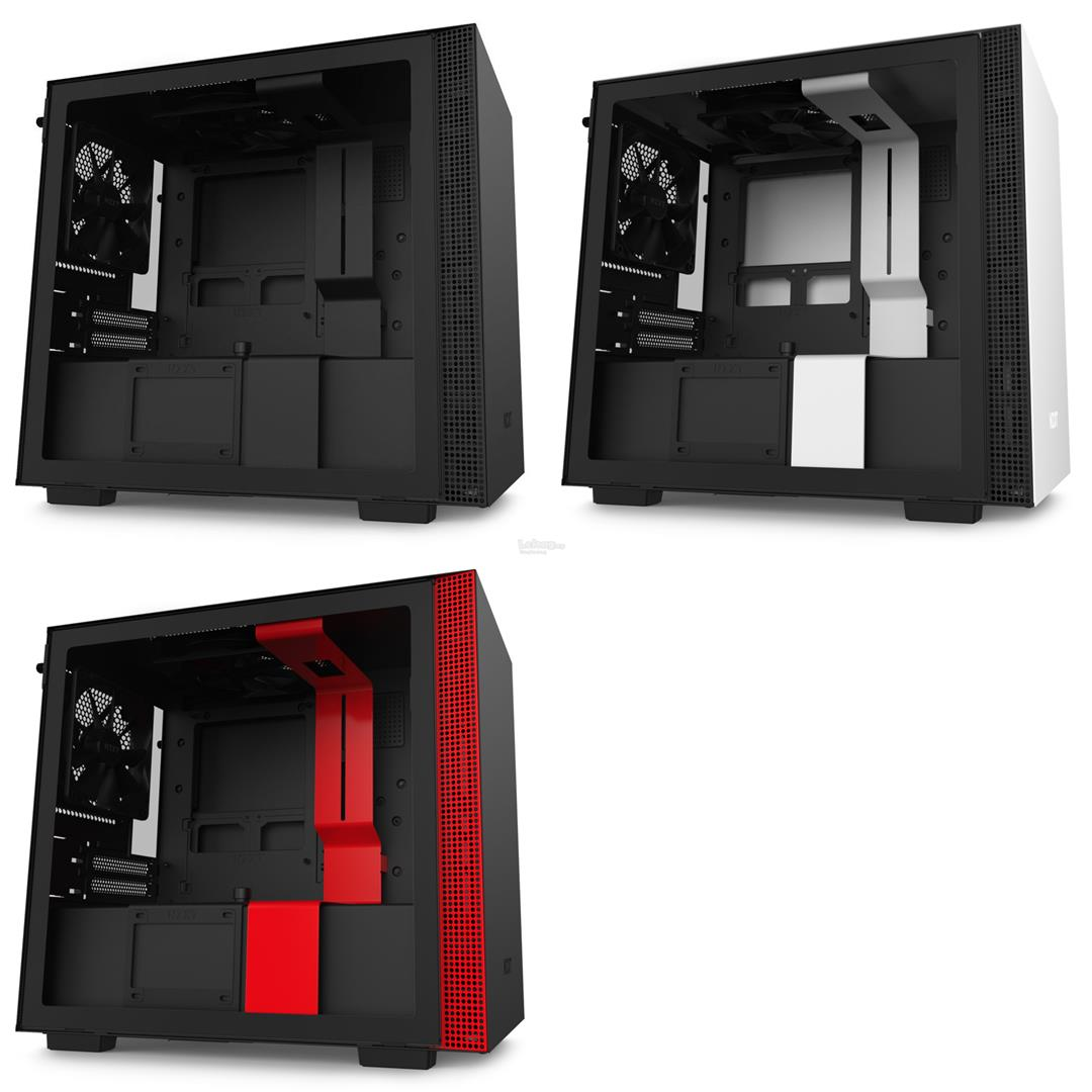 # NZXT H210i Premium Tempered Glass Mini-ITX Case # Black/White/Red