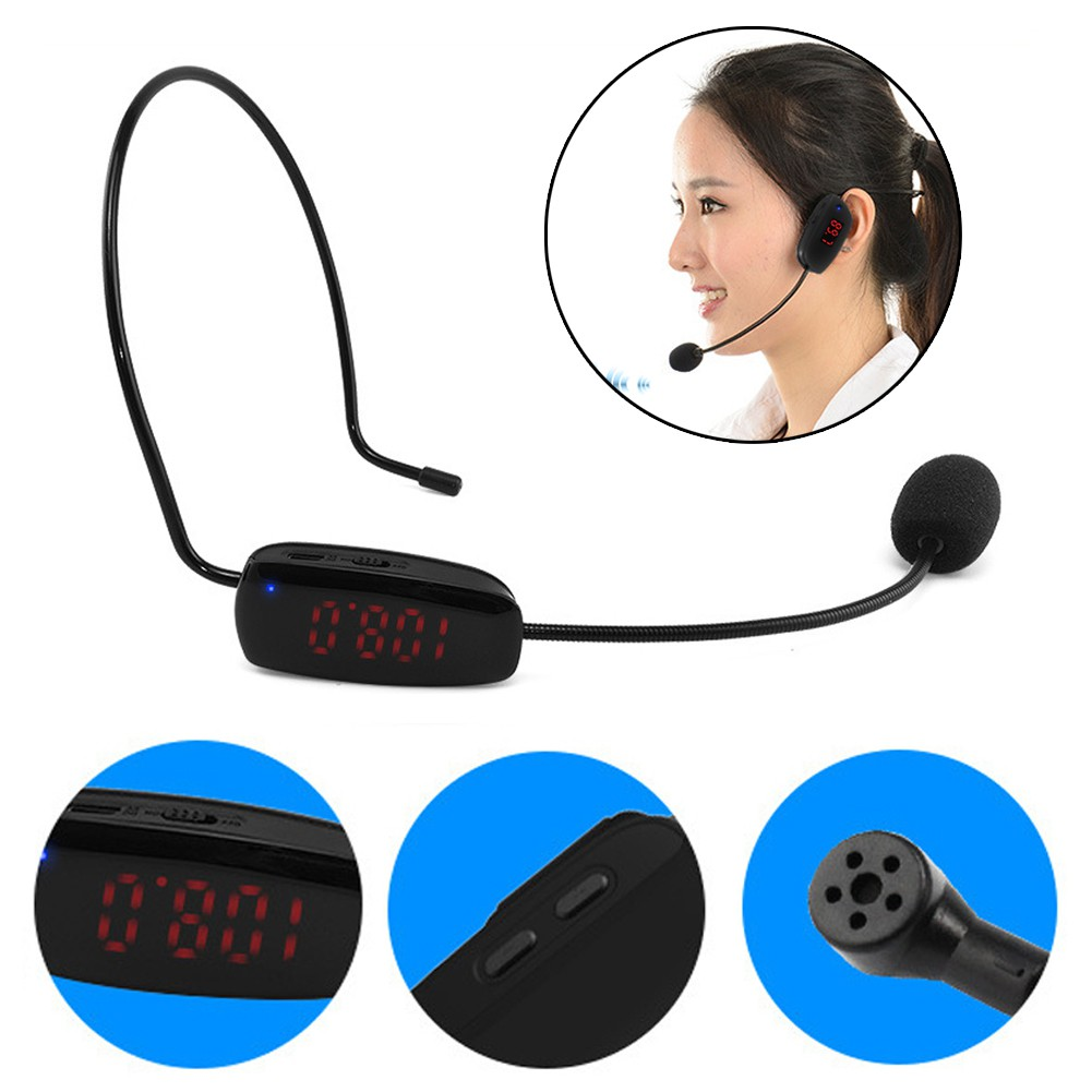 O fashion 32.8 Feet Radio Fm WIRELESS Head SET Microphone Handsfree Me