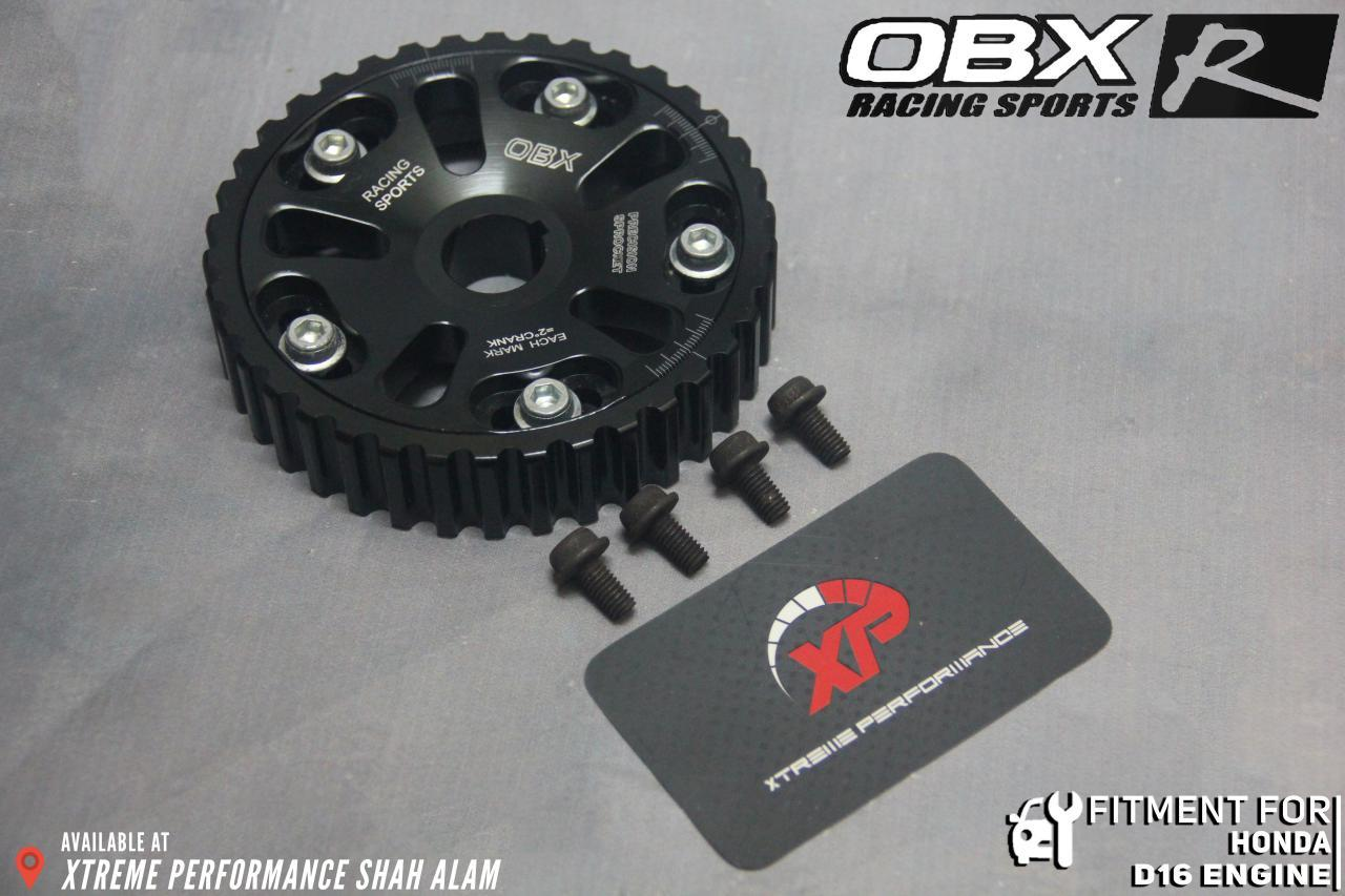 OBX CAM SHAFT PULLEY HONDA D16 BLACK LIFETIME WARRANTY