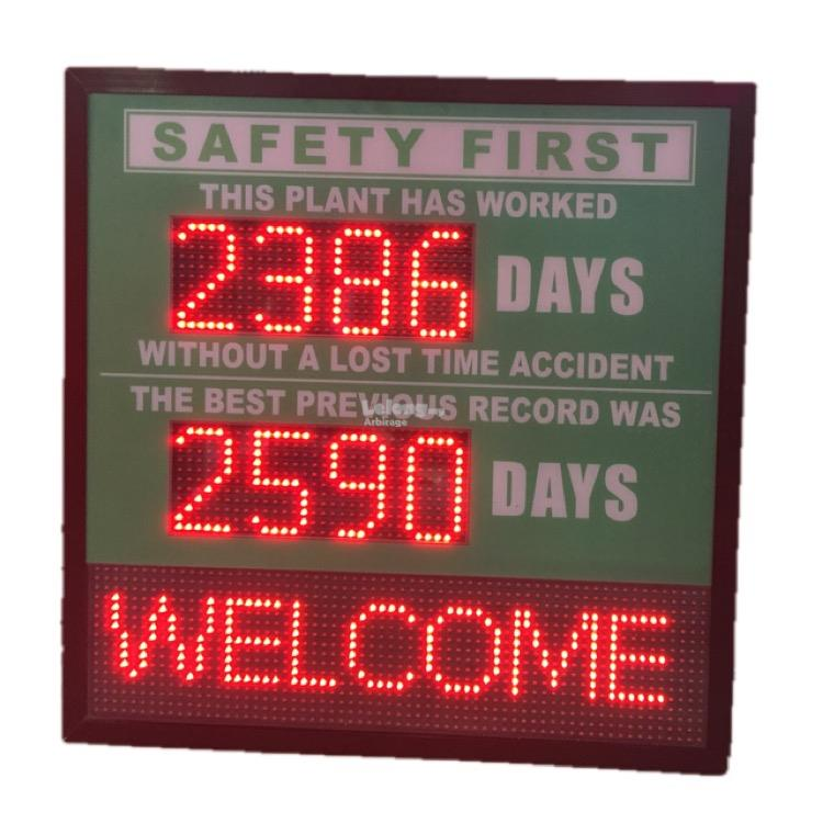 Occupational Safety LED digital Message Scoreboard