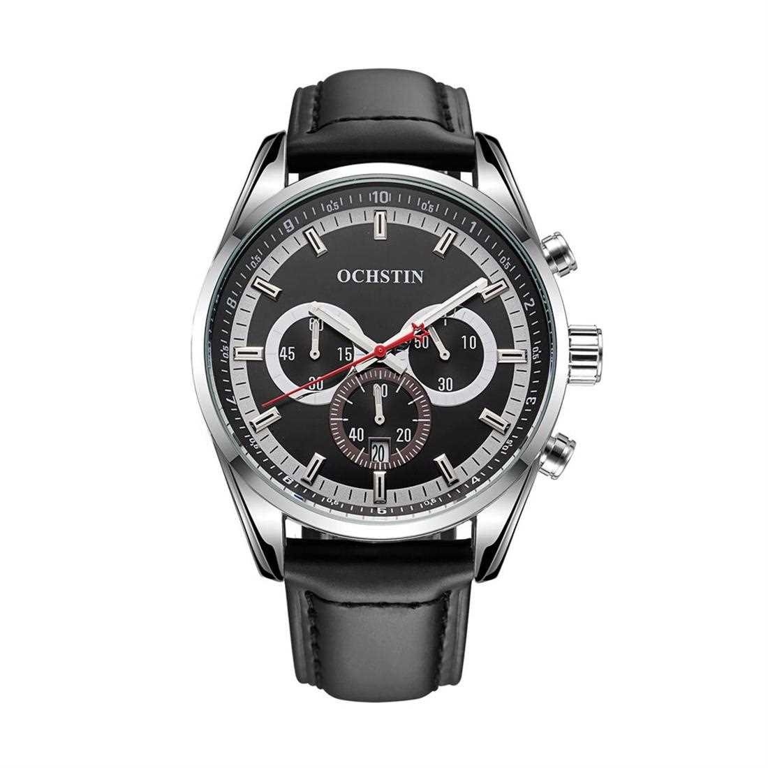 OCHSTIN 046 Luminous Chronograph Business Style Men's Watch ( Black )