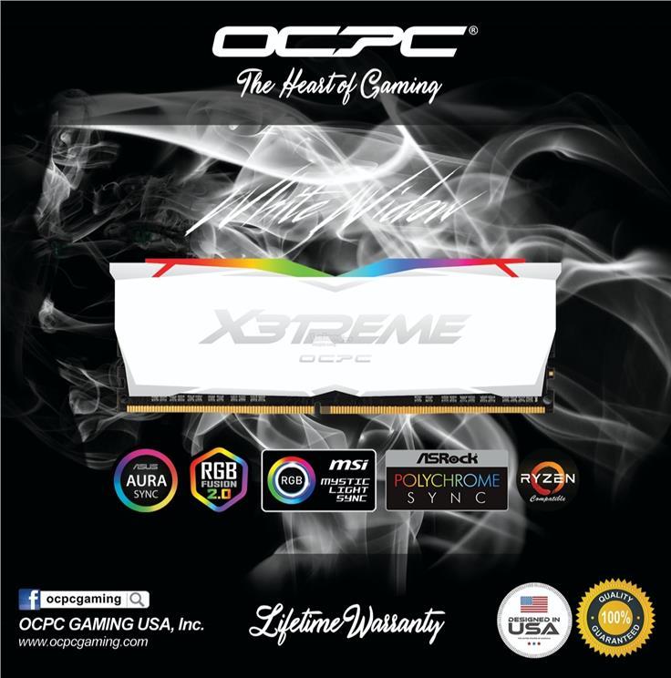 # OCPC X3TREME RGB AURA 16GB (2x8GB) 3200MHz DDR4 Memory Kit # White