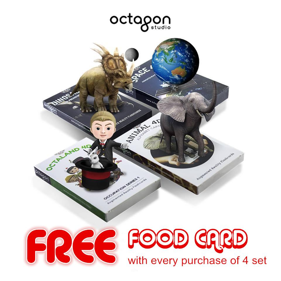 Octagon Studio Fun Iteractive Kid Learning 4D+ Flash Card FREE GIFT. ‹ ›