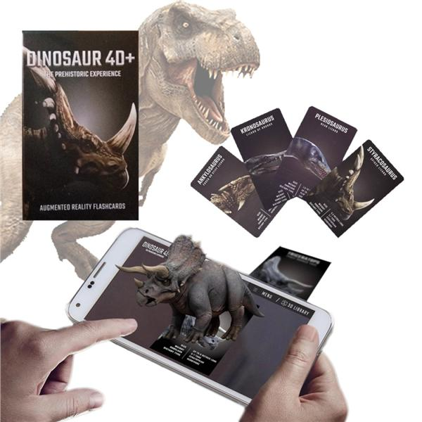 Octagon Studio Kid Learning 4D+ Flash Card (Animal+Dinosaur)
