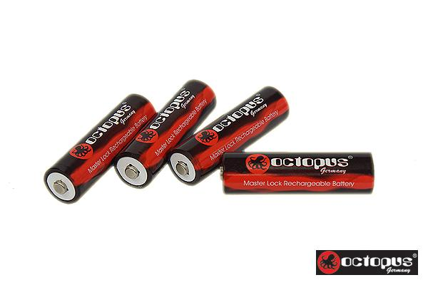 Octopus Master Lock 2500mAh AA Rechargeable Battery fr Canon Metz Sony