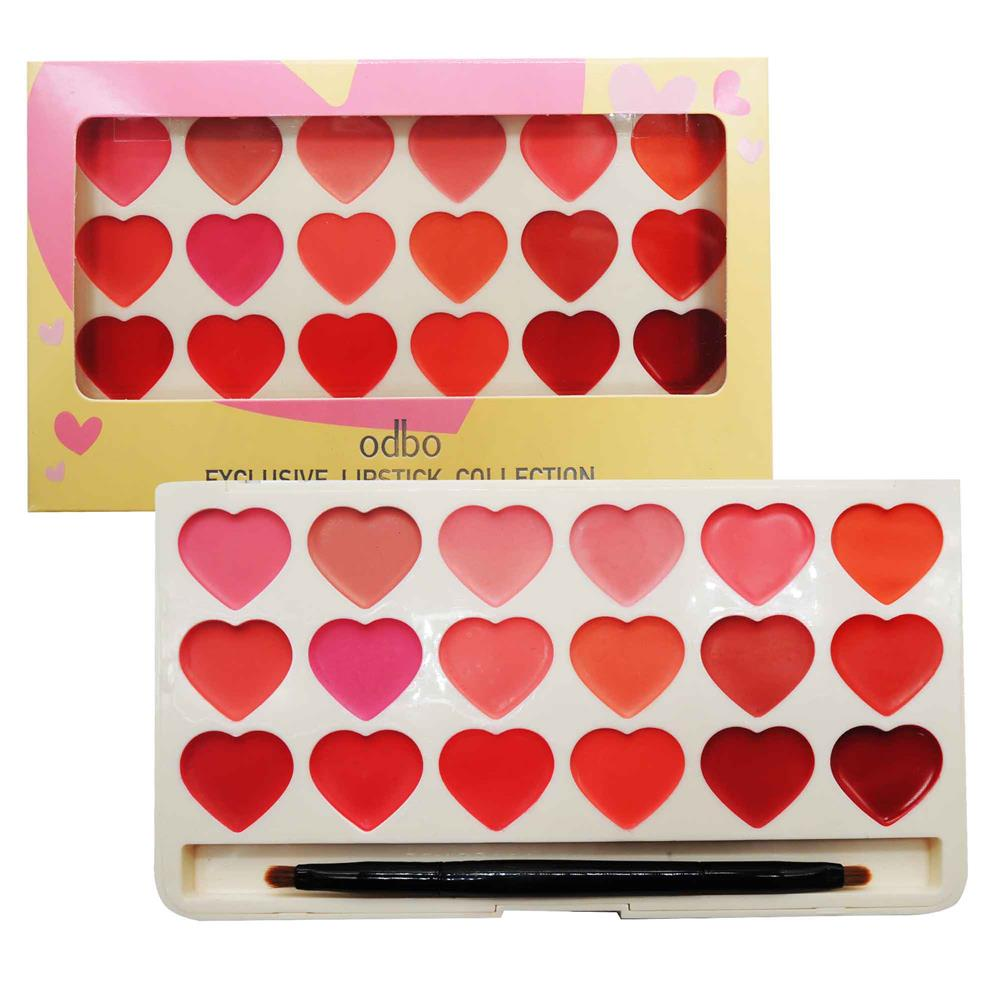 ODBO Exclusive Lipstick Collection Palette 2 Type Color Code 01