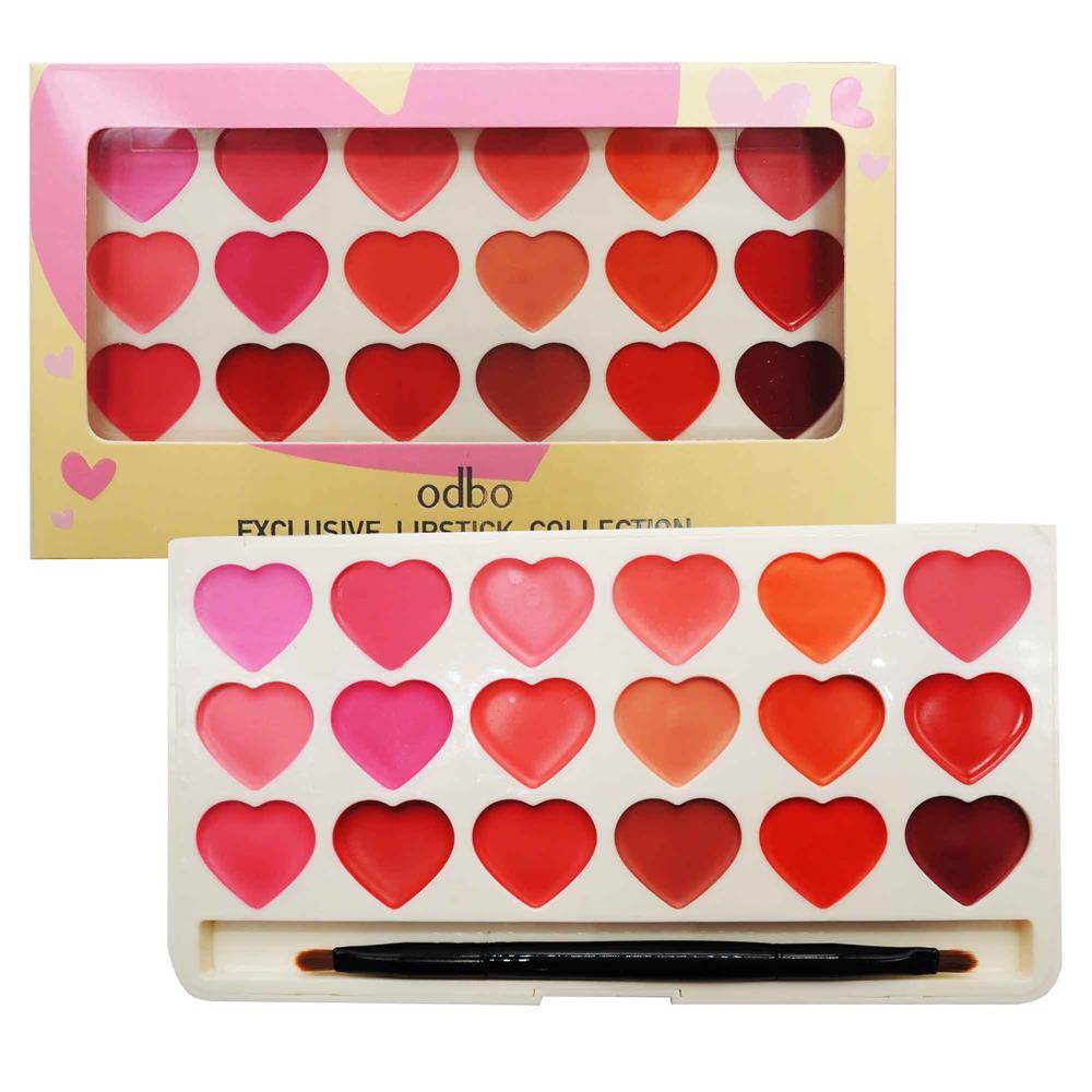 ODBO Exclusive Lipstick Collection Palette 2 Type Color Code 02