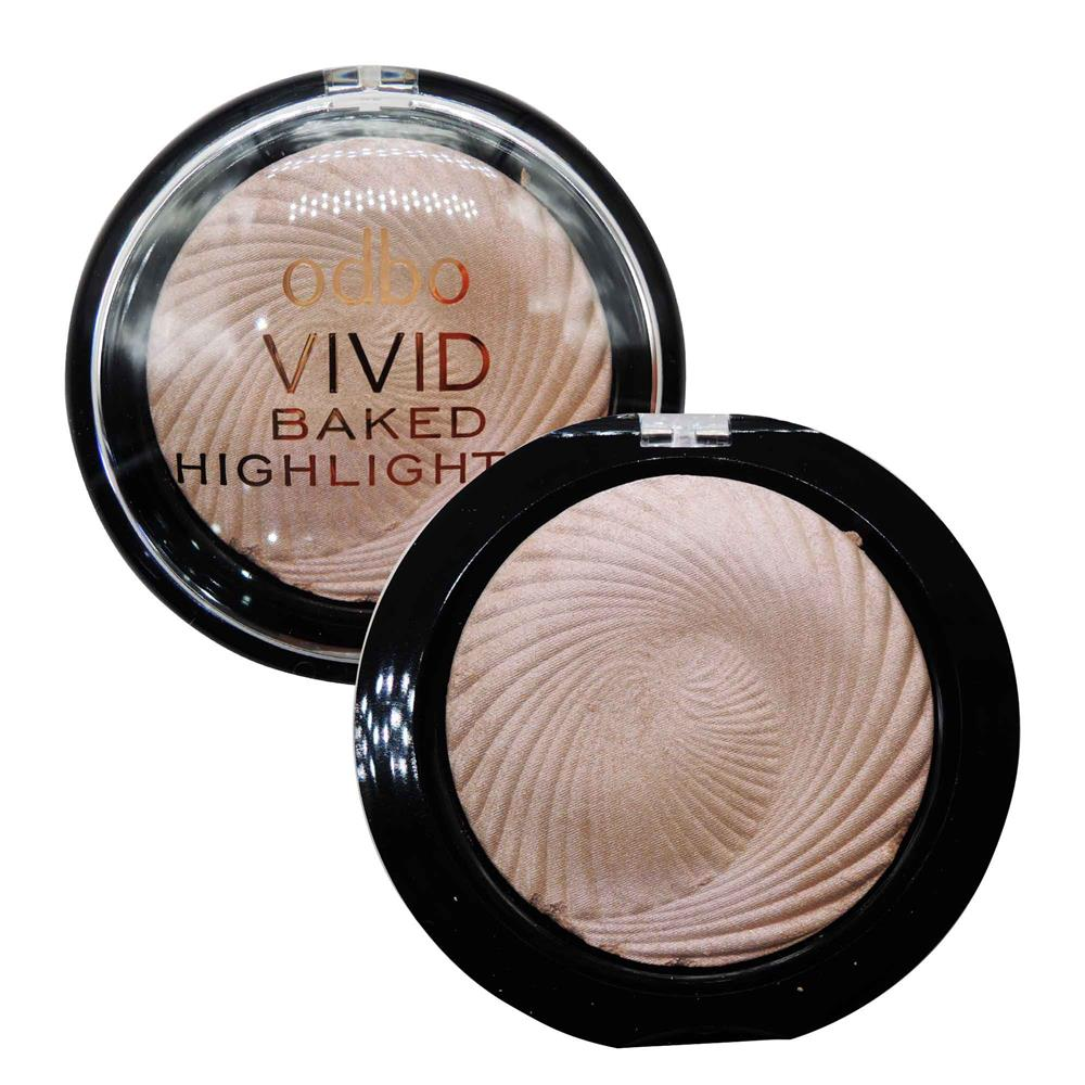 ODBO Vivid Baked Highlighter Shimmer Highlighter Code 02
