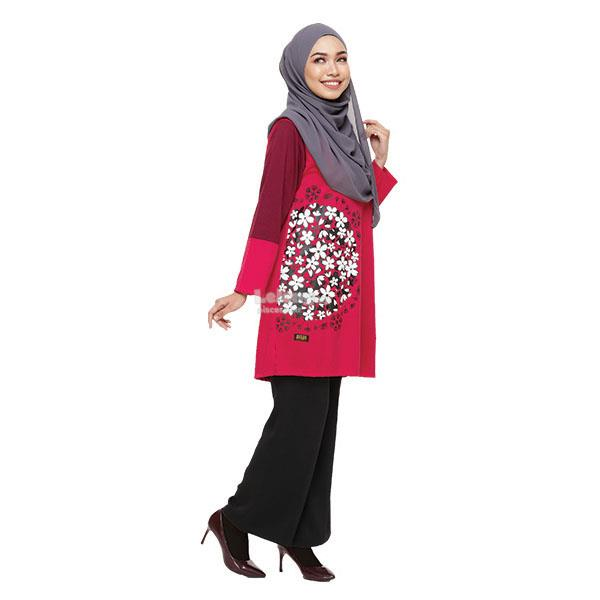 ODEEN Muslimah Floral T-shirt AS390