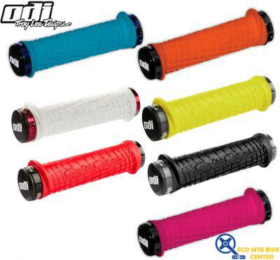 Odi White with Red Lock Jaws Troy Lee Design Grips
