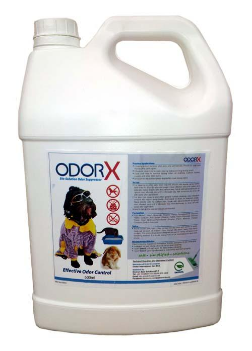 'OdorX' - ORGANIC Pets Urine and Poop Cleaner 5L