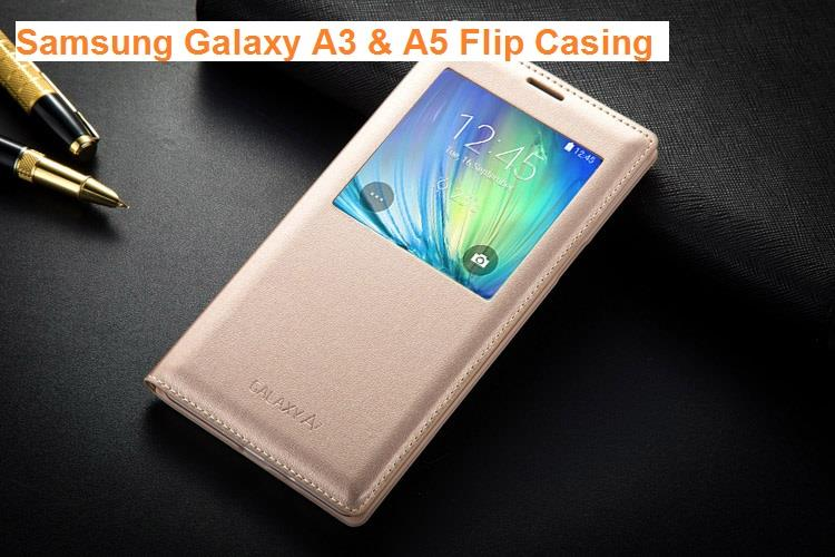 first rate ed687 3b69e OEM Samsung Galaxy A3 A5 S View Smart Cover Leather Flip Case Cover
