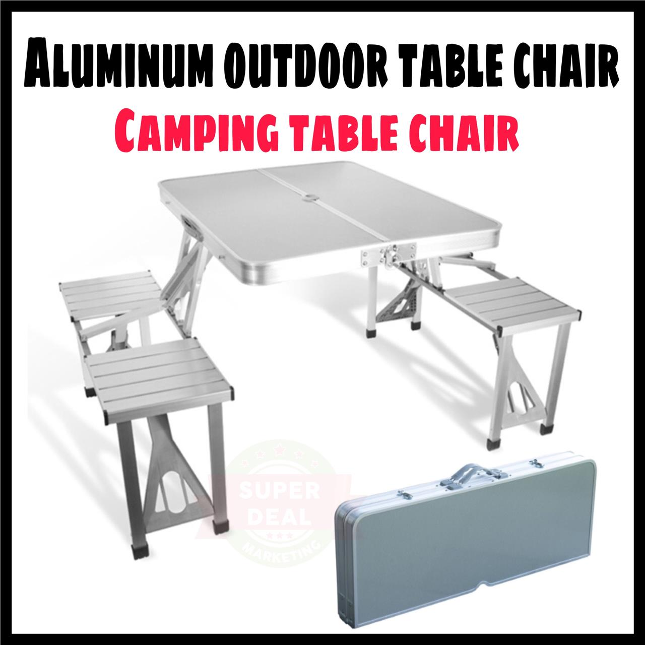 Outdoor chair camping - Offer Aluminium Picnic Table Chair Camping Outdoor Table Chair Meja