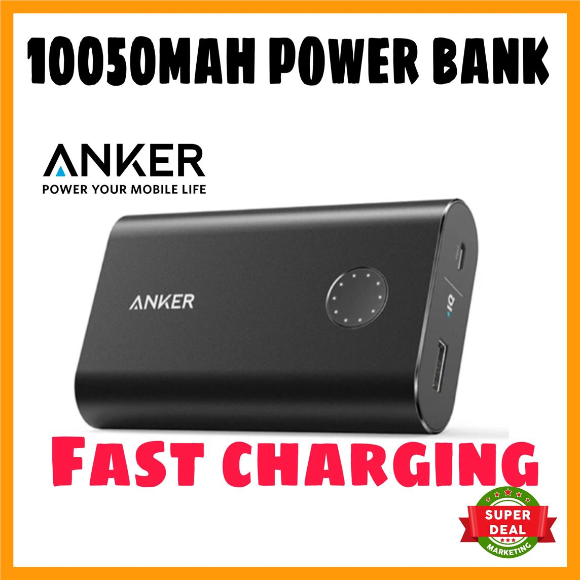 Anker Powercore Plus 10050mah Certified Qualcomm Quick Charge 2 0 Zola Thunder 2q 30 Usb Charger Outputs Black Offer 20 Power Bank Fast Charging New