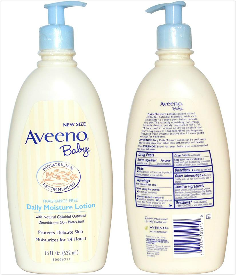 Offer!! Aveeno, Baby, Daily Moisture Lotion, Fragrance Free (532 ml)