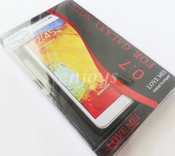 OFFER: LoveMei 0.7mm Metal Bumper Samsung Galaxy Note 3 N9005 ~BLACK