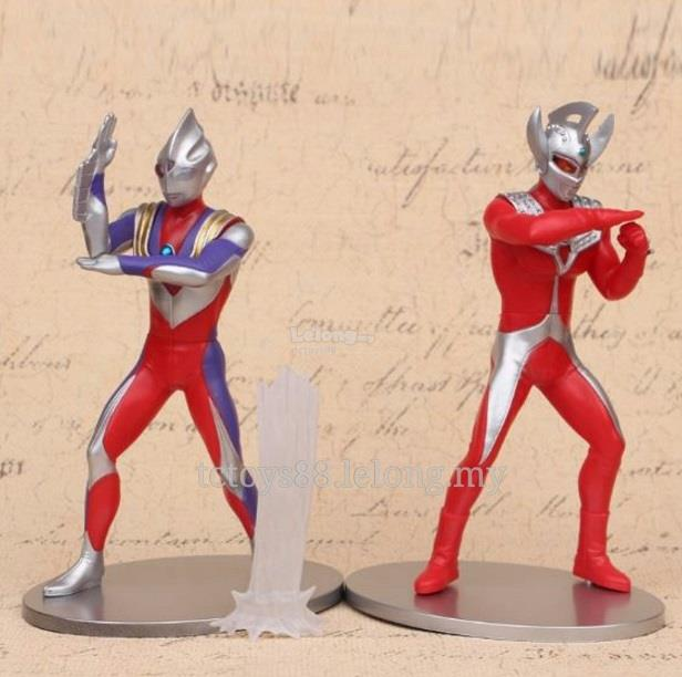 OFFER. Ultraman Figure. Ultraman Taro & Tiga 18cm figure.(2pcs).ULTL12