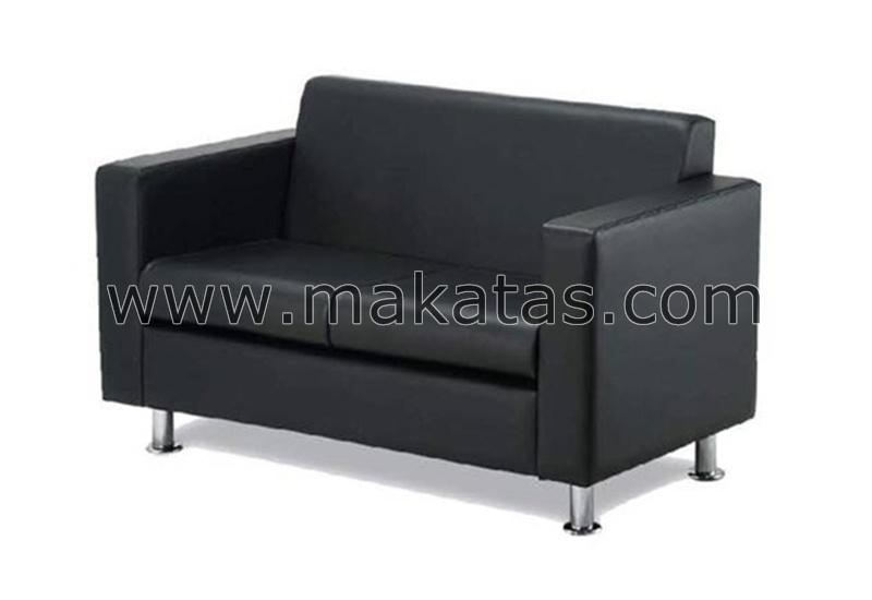Office College Furniture|Makatas Tivo Double Seater Sofa Full Leather