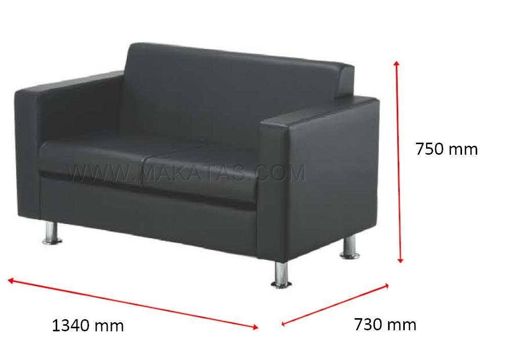 Office College Furniture Makatas Tivo Double Seater Sofa Mesh Fabric