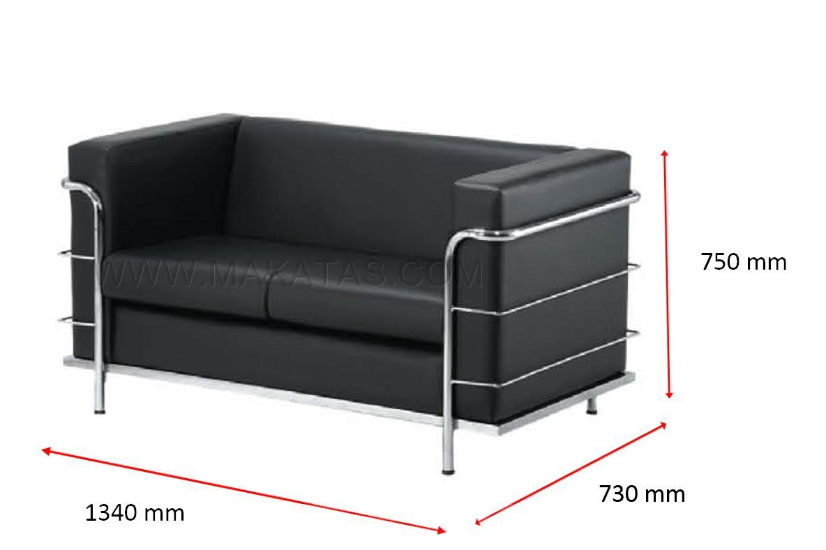 Office College Furniture Makatas Tivo Double Seater Sofa Pu Pvc