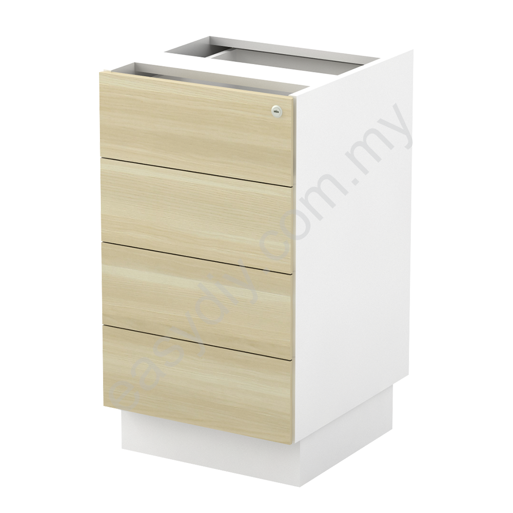 Office Furniture / Fixed Pedestal 4 Drawer With Base B-YHP 4(E)