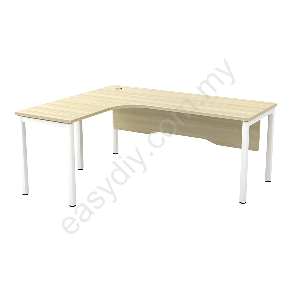 "Office Furniture L Shape Table C/W ""N"" Leg SWL 552 (L) / SWL 552 (R)"