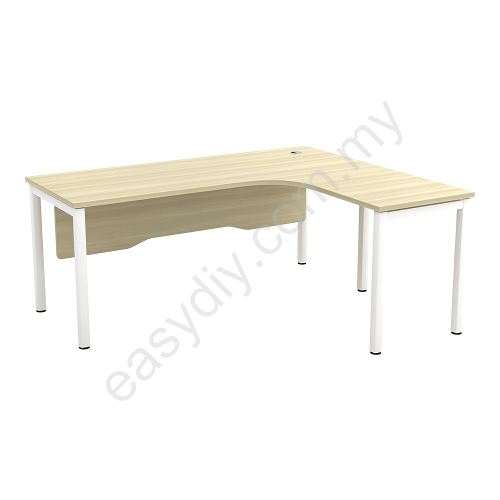 "Office Furniture / L Shape Table C/W ""N"" Leg SWL 652 (L) / SWL 652 ("