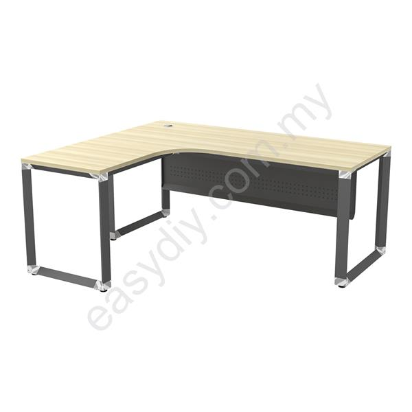 Office Furniture / Office Table / L Shape Table C/W 'O' Leg