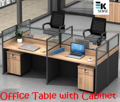 Office Furniture Staff Desk With Cabinet 1 Month Pre Order