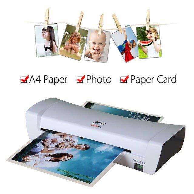 Office Laminator Machine A4 Paper Laminator SL200 Laminate Paper