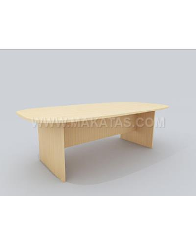 Office Table MejaPejabat OfficeFurniture Makatas Oval Conference Table
