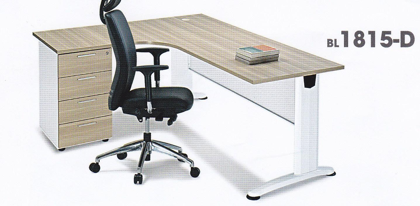 Office Table Workstation With 4 Drawers Fixed Pedestal Furniture