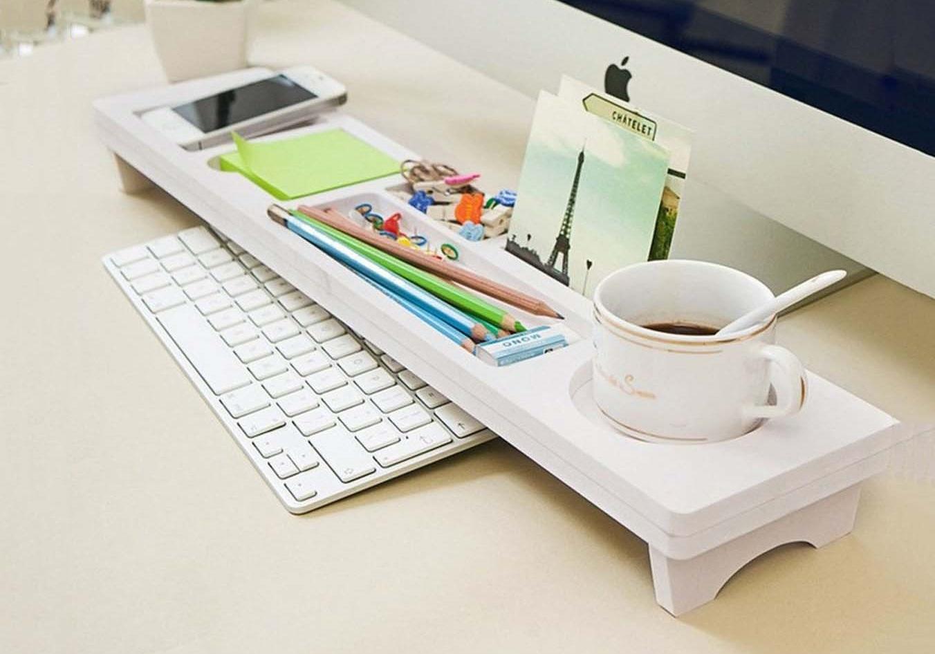 office desktop storage. New Office Tidy Multifunction Desktop Storage Rack Desk Organizer Hold