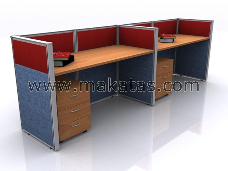 Office Workstation|Meja Pejabat|Makatas Workstation Rino 7