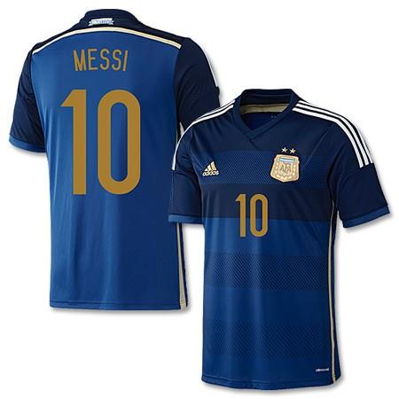 Official MESSI 10 Argentina Away Kit 2014-16 World Cup ... faee1f864