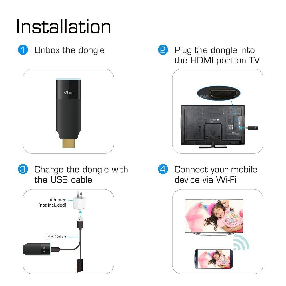 a996d83be970 Officially Authorized By EZCast - EZCast 2 Wireless Display Receiver Dual  Band