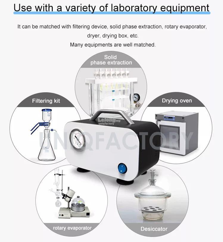 Oilless Electric Mini Diaphragm Vacuum Pump Laboratory Lab Filtration