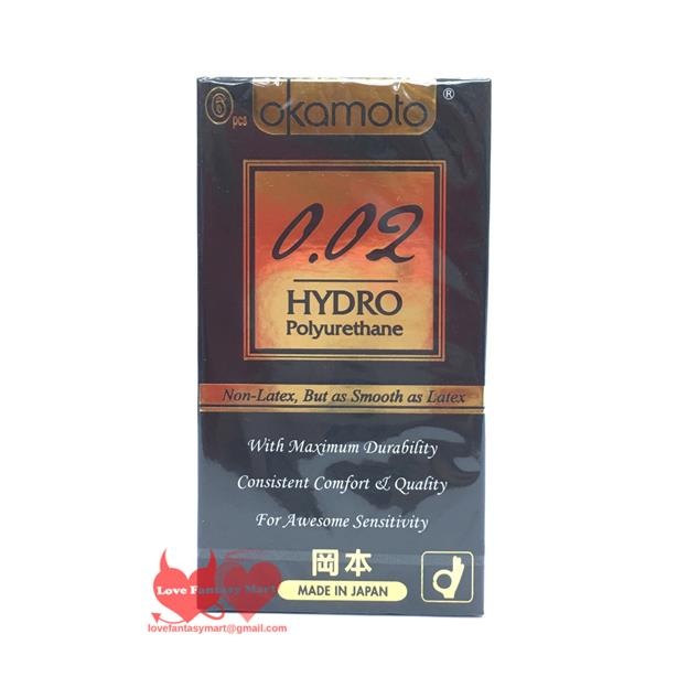 Okamoto 002 Hydro Polyurethane Non Latex Ultra Thin Condoms 6s