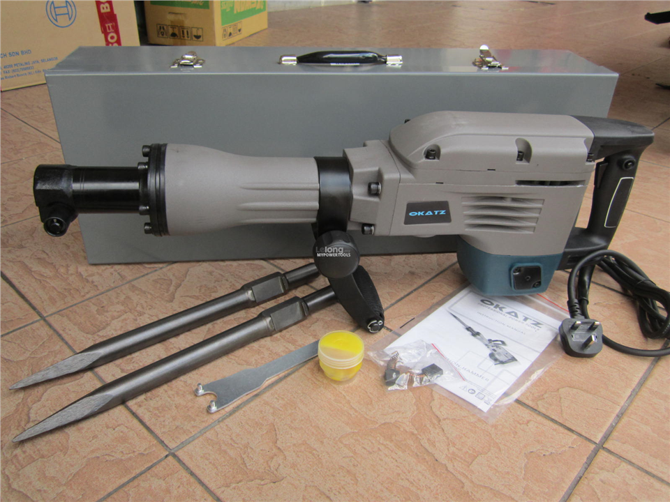 Okatz 1600W 30mm Hex Demolition Jack Hammer